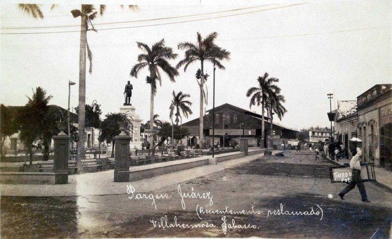 Parque Juarez hacia 1940