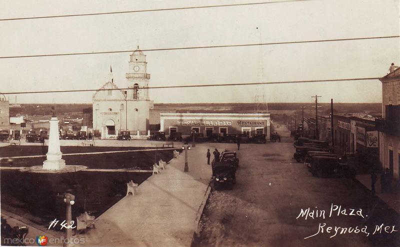 Fotos de Reynosa, Tamaulipas, México: La Plaza hacia 1945