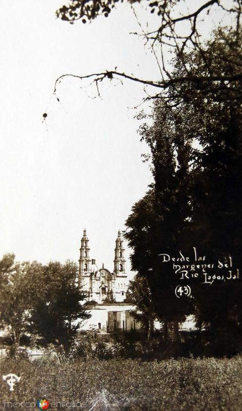 Fotos de Lagos de Moreno, Jalisco, M�xico: Vista desde el Rio Hacia 1945