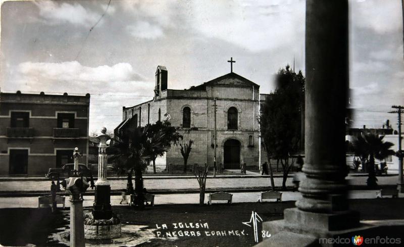 Fotos de Piedras Negras, Coahuila, M�xico: La Iglesia  Hacia 1945