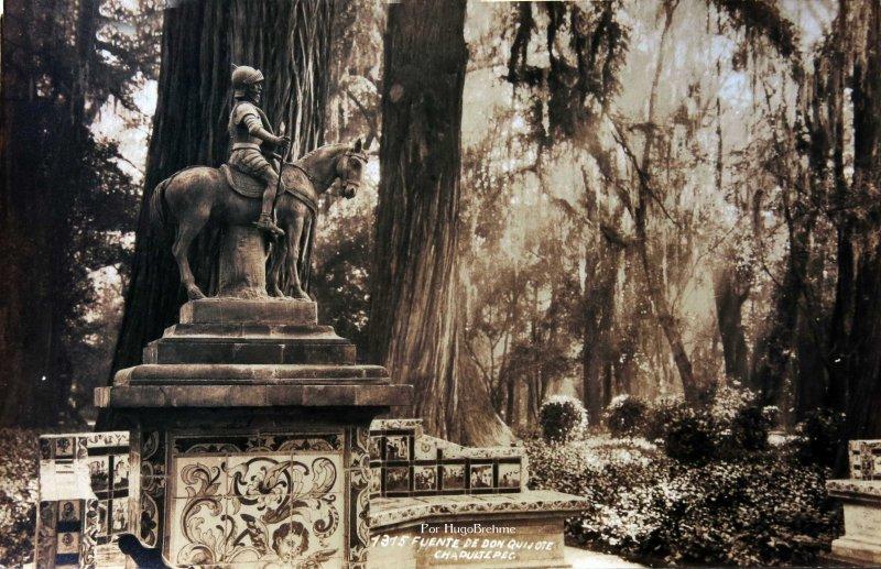Fuente de Don Quijote en Chapultepec Por Hugo Brehme Hacia 1930