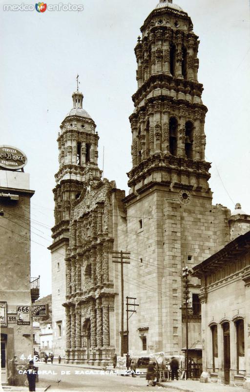 Fotos de Zacatecas, Zacatecas, M�xico: La Iglesia Hacia 1945