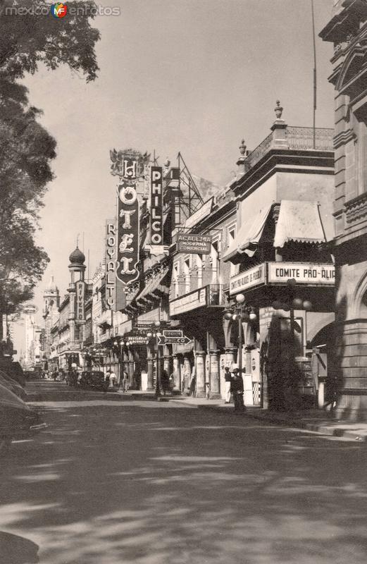 Puebla, calle céntrica