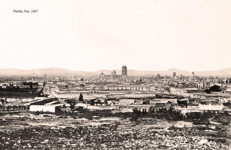 Puebla, vista panorámica, 1865