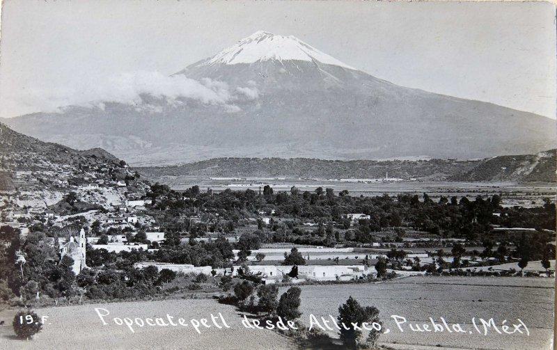 El Popocatépetl visto desde Atlixco