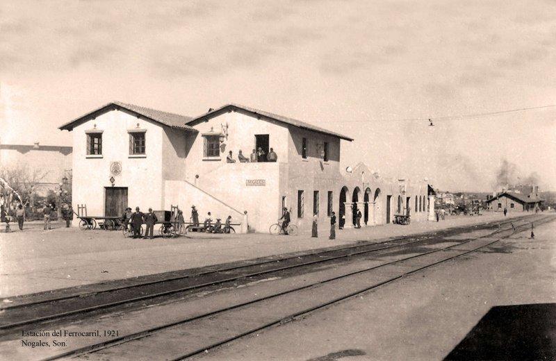Fotos de Nogales, Sonora, M�xico: Nogales, Estaci�n del Ferrocarril, 1921