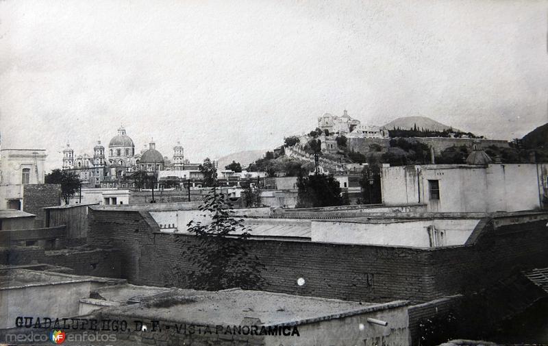 La Villa y el cerro del Tepeyac Hacia 1900
