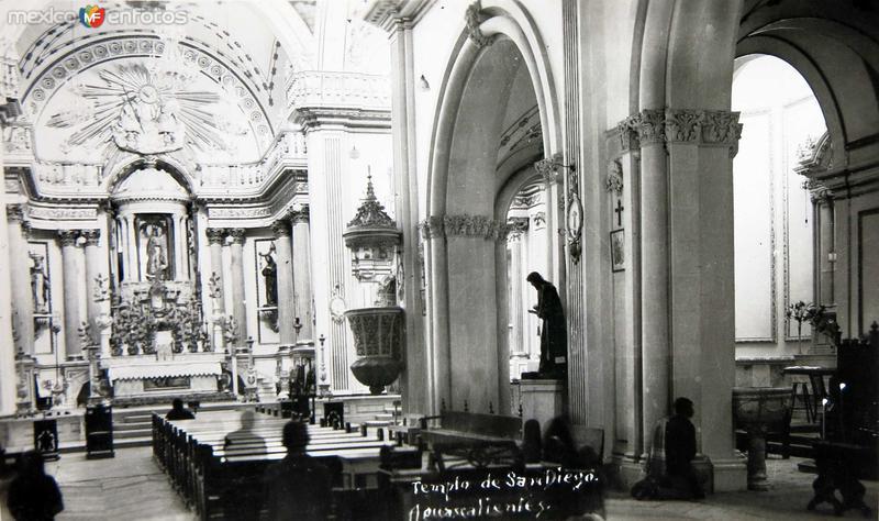 Interior del templo de San Diego Hacia 1945
