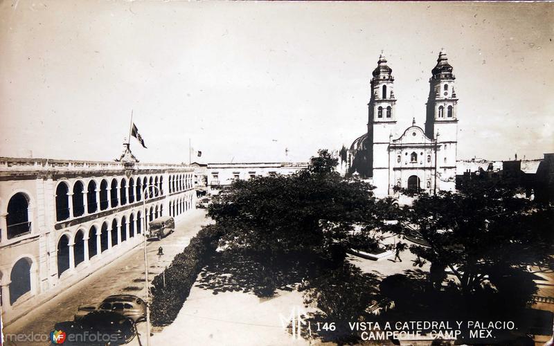 La catedral y el palacio Hacia 1945