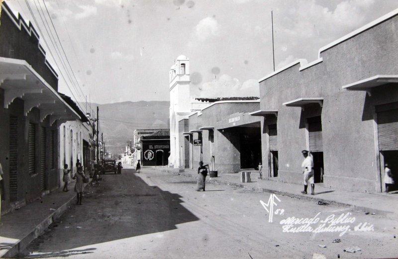 Fotos de Tuxtla Guti�rrez, Chiapas, M�xico: Mercado publico del centro Hacia 1945