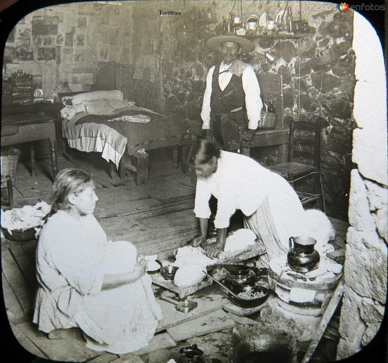 Tortillera Mexico D F Hacia 1900
