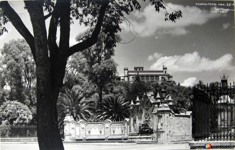 El Castillo de Chapultepec Hacia 1945