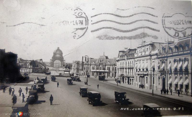 Avenida Juarez Hacia 1921