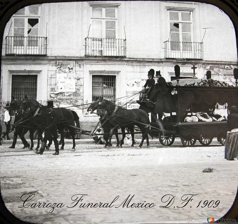 Carroza de un Funeral Hacia 1909