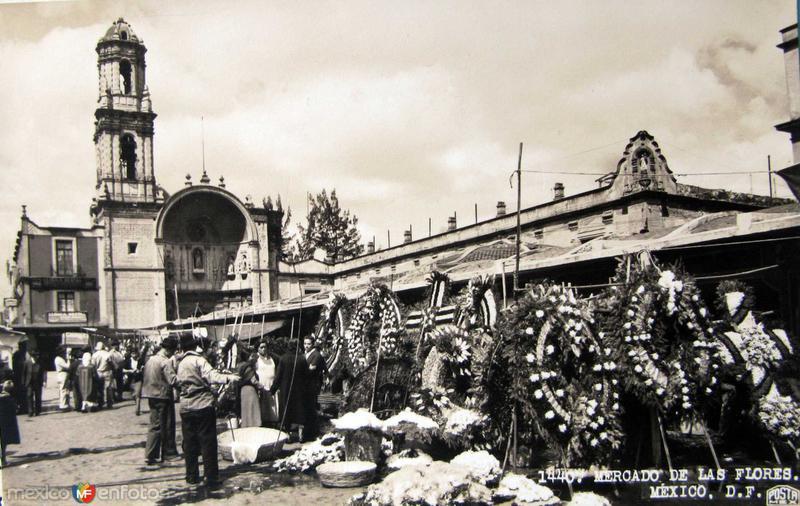Mercado de las Flores Hacia 1945