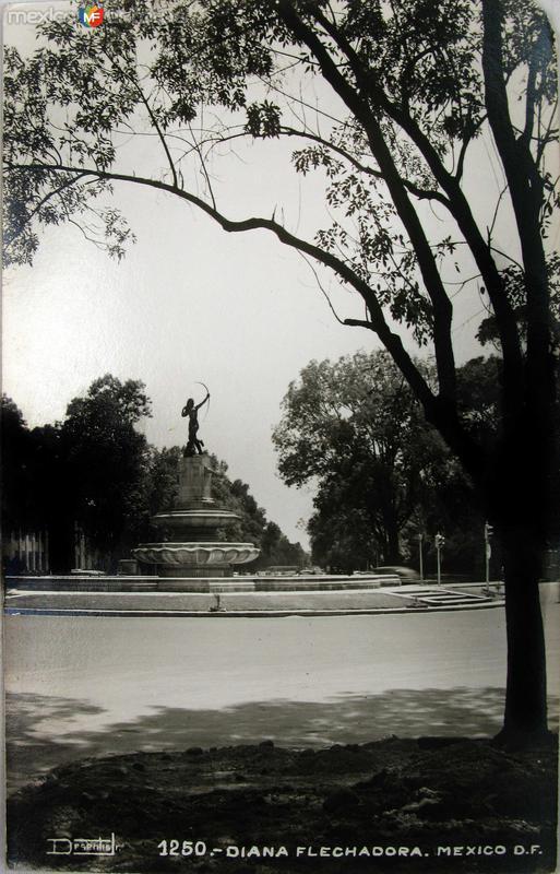 Fuente de la Diana Cazadora Reforma Hacia 1945