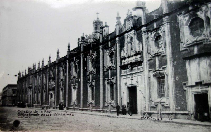 Colegio de las Vizcainas Hacia 1930
