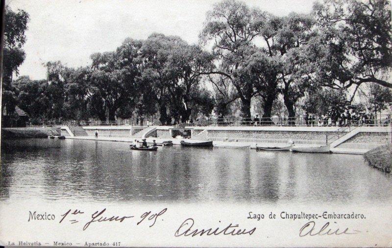 Lago de Chapultepec Hacia 1908