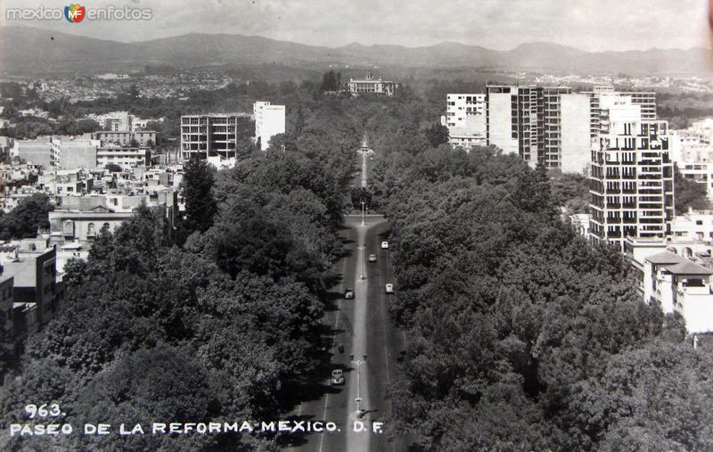 Paseo de la Reforma Hacia 1948