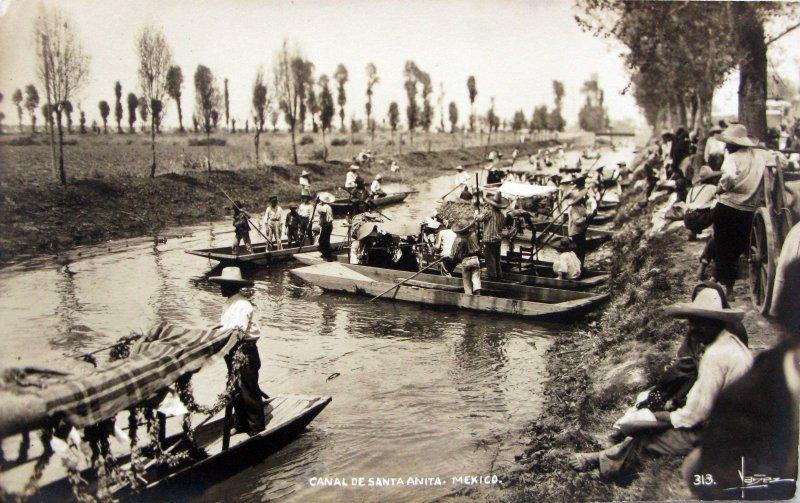 Canal de la Viga Sta Anita Hacia 1930
