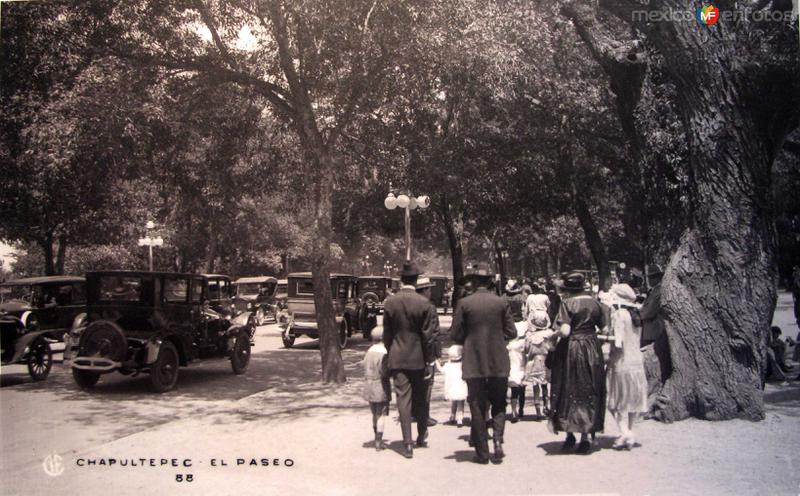 El Paseo Chapultepec Hacia 1940