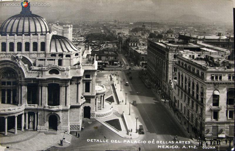 Fotos de Ciudad de M�xico, Distrito Federal, M�xico: Palacio de Bellas Artes Hacia 1945