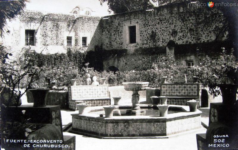 Fotos de Ciudad de México, Distrito Federal, México: Fuente de Churubusco  Hacia 1945