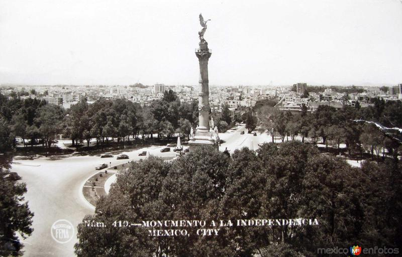 Columna de la Independencia Hacia 1945