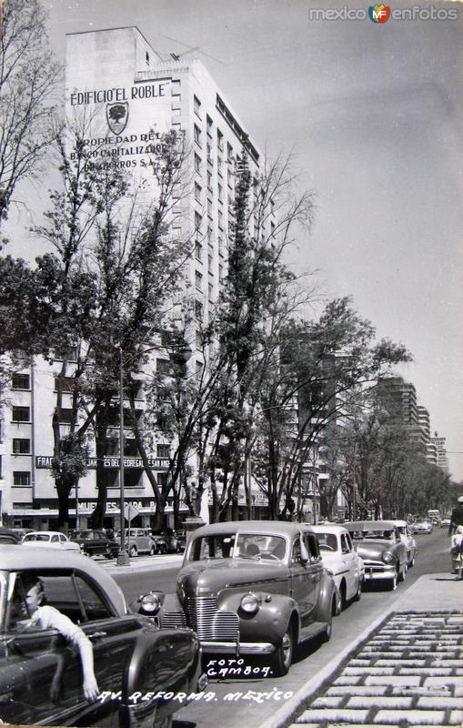 Avenida Reforma Mexico D F Hacia 1945