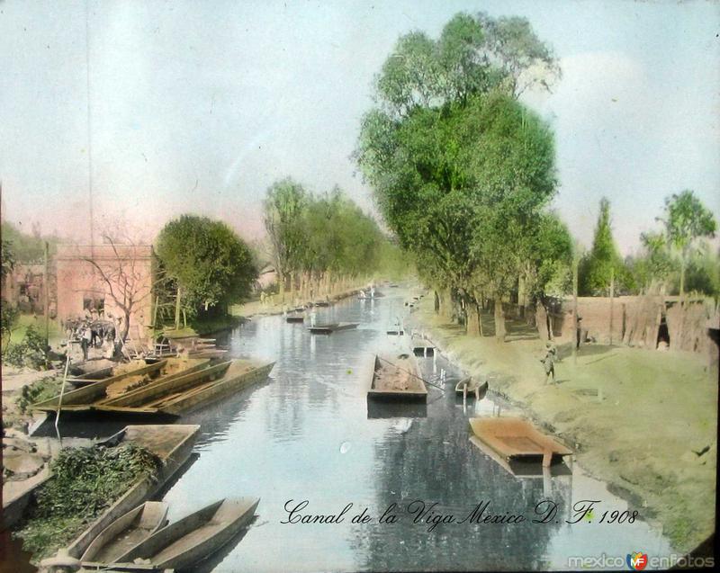 Canal de la Viga Hacia 1908