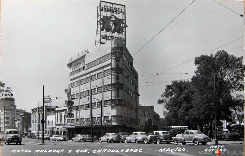 Hotel Wandorf & Avenida Chapultepec Hacia 1945