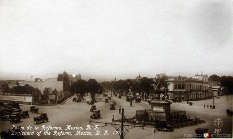 Paseo de la Reforma Hacia 1930