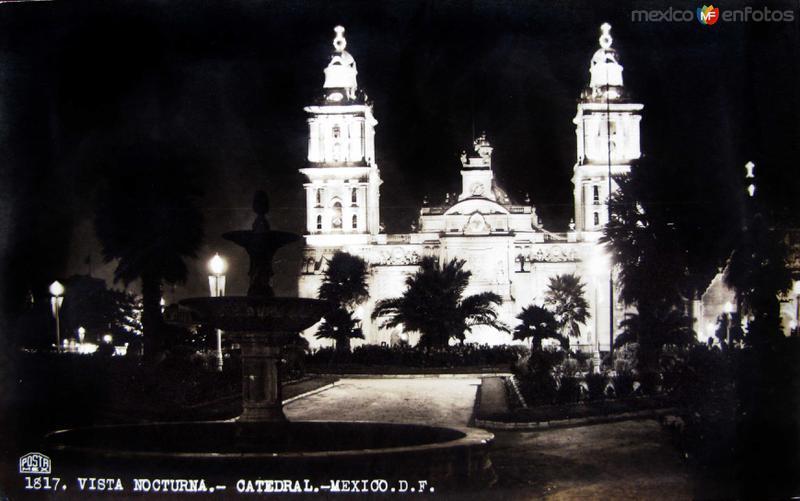 Catedral de Mexico D F Hacia 1950