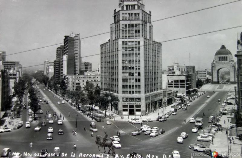 Avenida Reforma y Ejido Hacia 1945