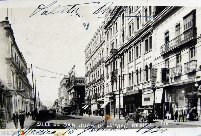 Calle San Juan de Letran Hacia 1930
