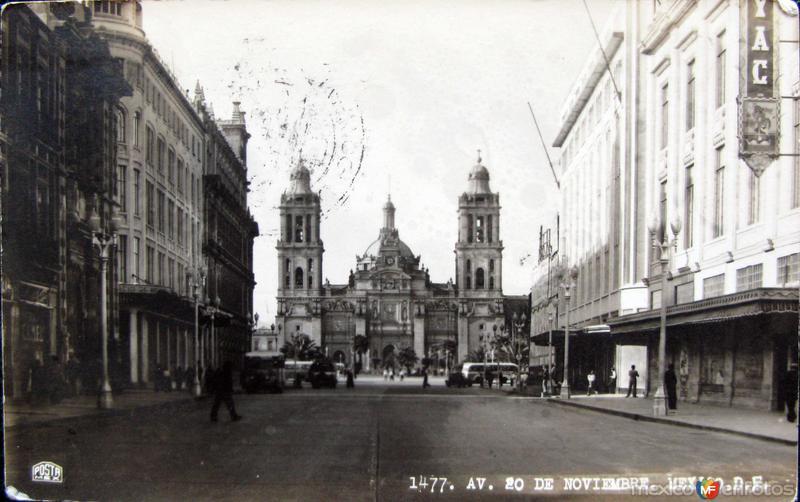 Avenida 20 de Noviembre Hacia 1945