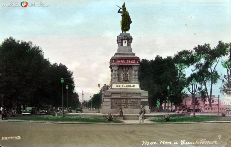 Monumento a Cuahutemoc Hacia 1940
