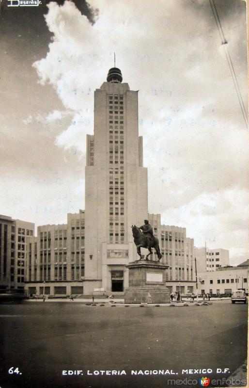 Edificio de la Loteria Nacional Hacia 1945
