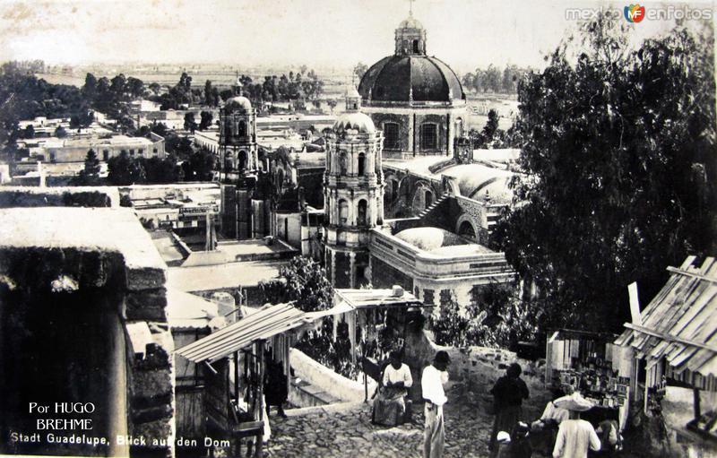 Panorama de la Villa de Guadalupe Por el fotografo HUGO BREHME Hacia 1930