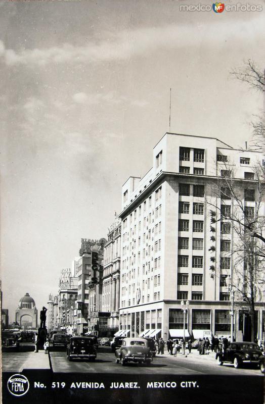 Avenida Juarez Hacia 1940