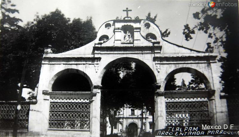 Tlalpan Parroquia Hacia 1945