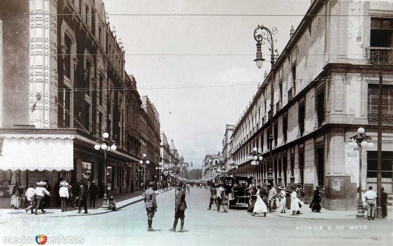 Avenida 5 de Mayo Hacia 1920