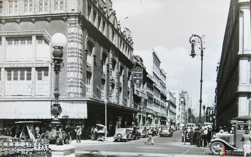 Avenida 5 de Mayo Hacia 1930