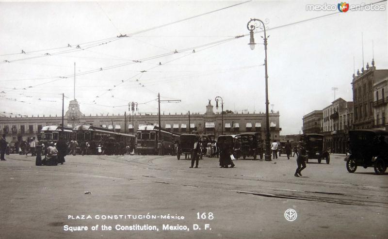 Plaza Constitucion Hacia 1930