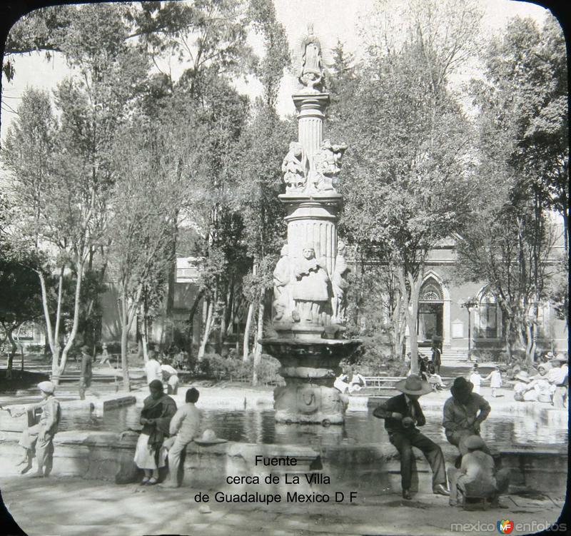 Fuente de la Villa de Guadalupr Hacia 1920