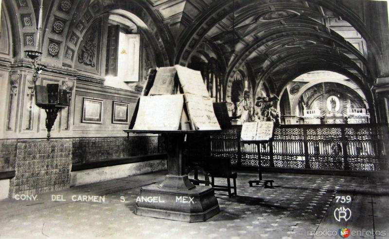 Convento de San Angel Hacia 1945