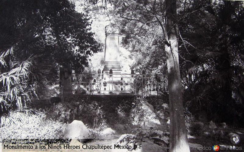 Monumento a Los Niños Heroes Hacia 1900