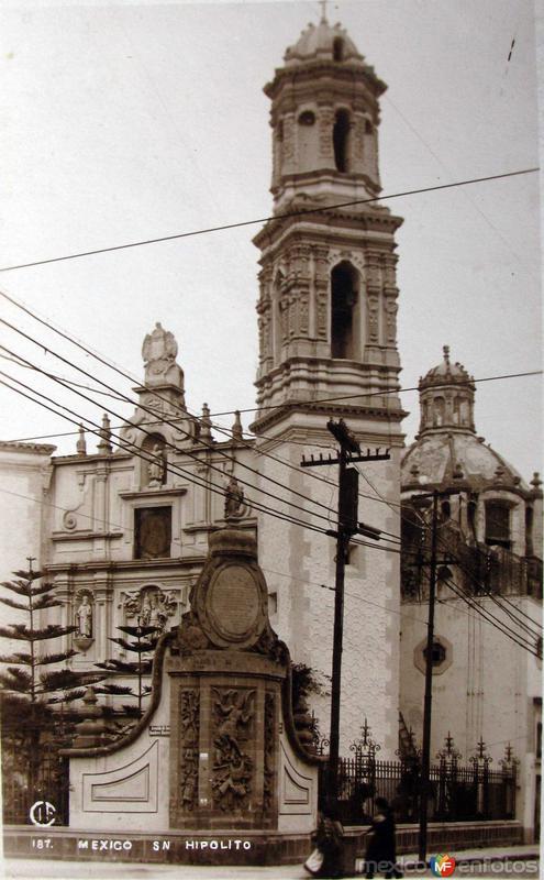 Iglesia de San Hipolito Hacia 1930