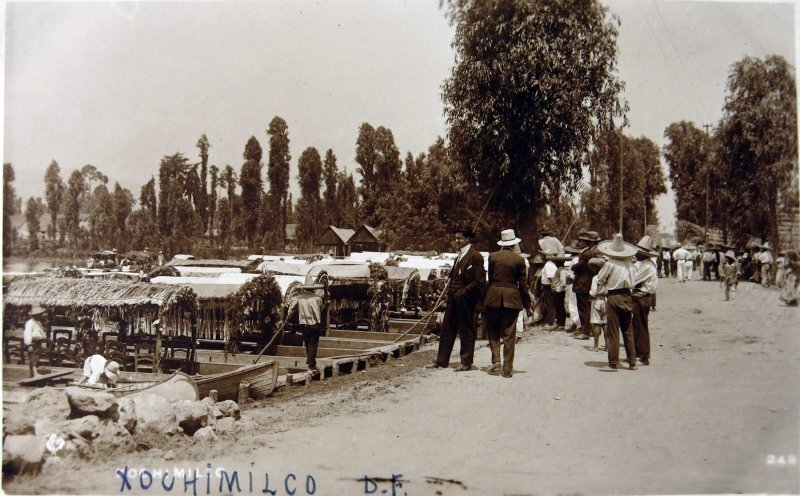 XOCHIMILCO El Embarcadero Hacia 1920