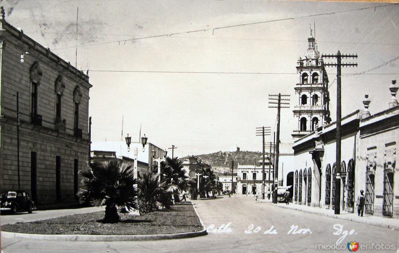 Calle 20 de Noviembre Hacia 1945